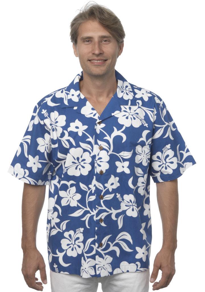 Classic Hibiscus Mens Blue