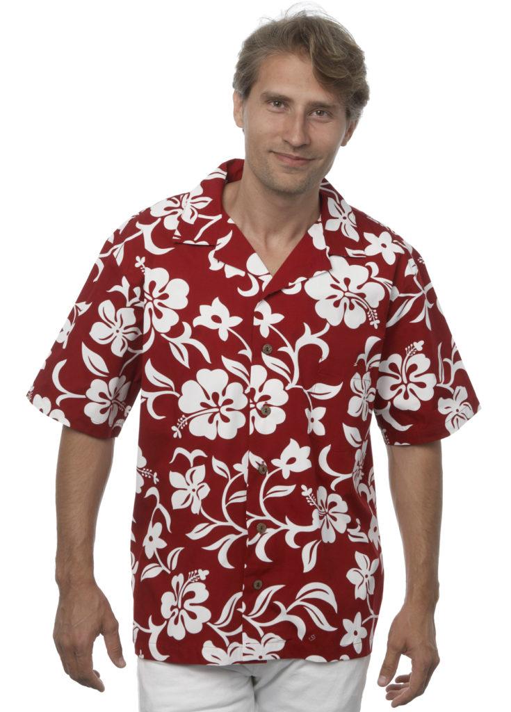 Classic Hibiscus Mens Red