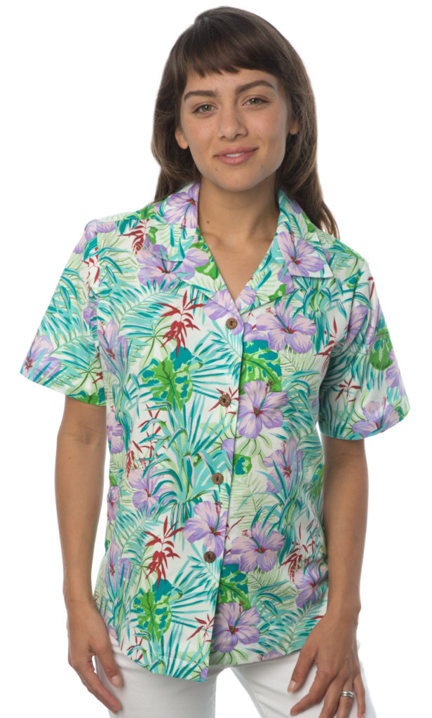 Hibiscus Palm Leaves Hawaiian Shirt