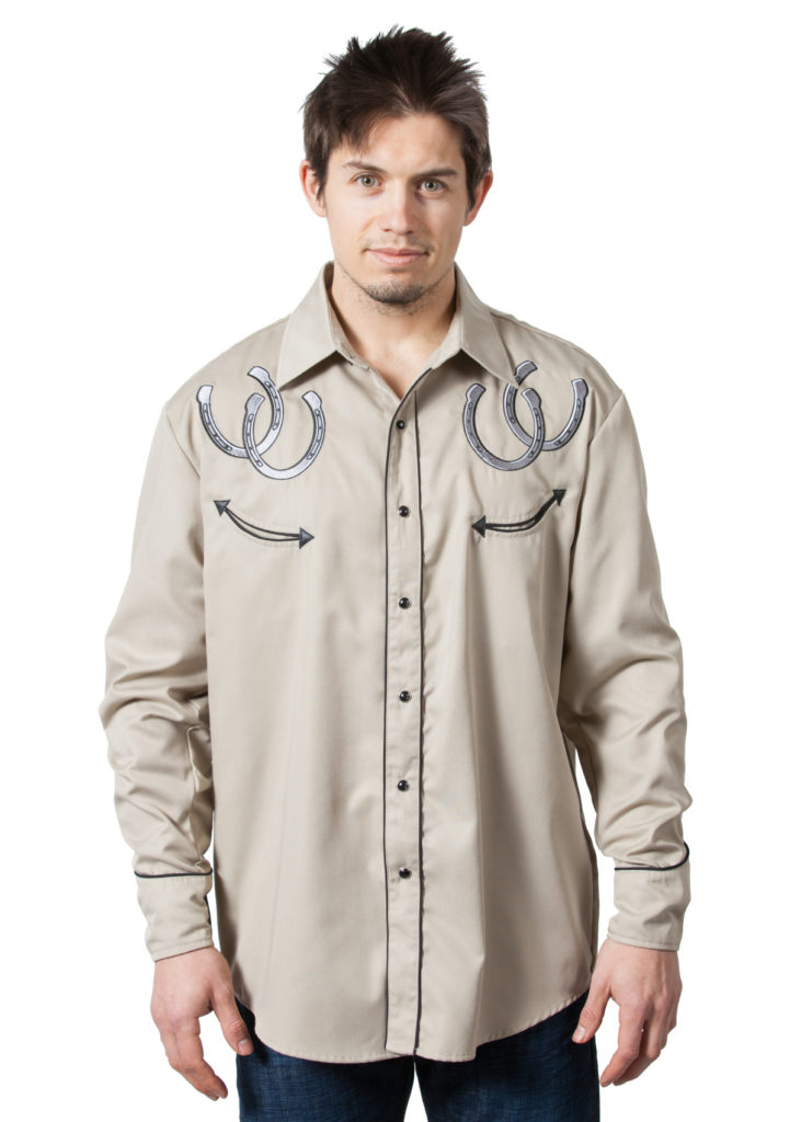 Bennys Khaki Horseshoes Shirt