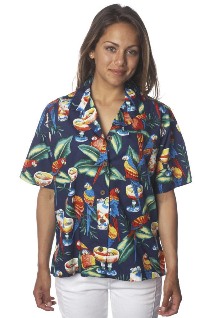 Parrots Margaritas NavyHawaiian Shirt