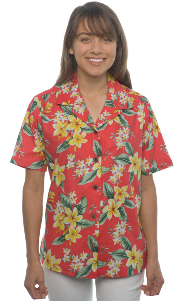 Plumerias Orchids Hawaiian Shirt