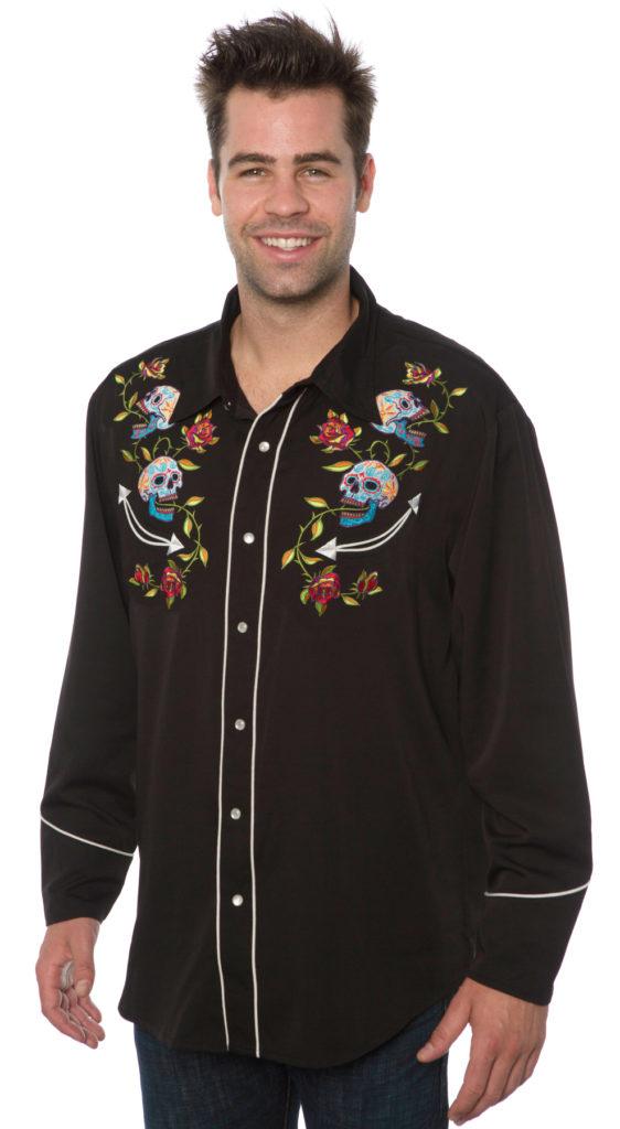 Sugar Skulls Western shirt